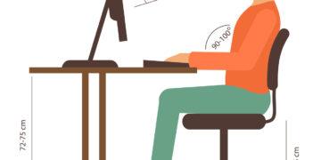 Quatre conseils pour adopter une bonne position au bureau